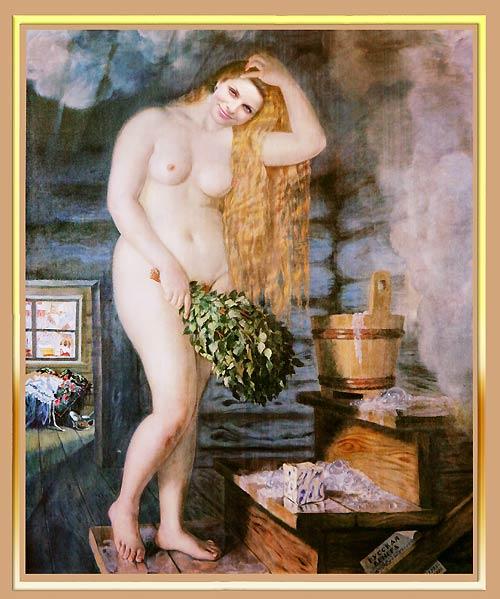 Русскую девку в бане 10 фотография